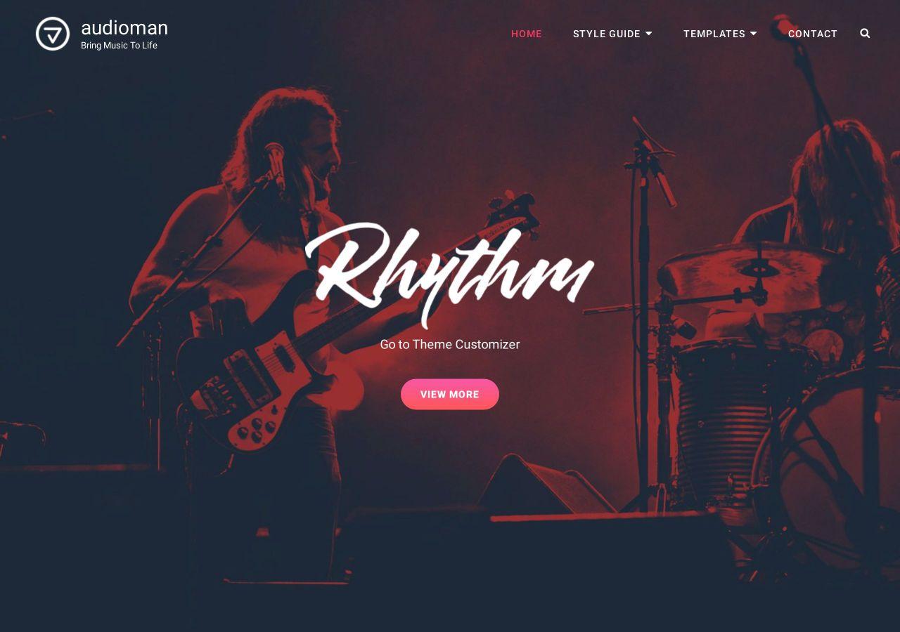20+ Best Free Responsive Music WordPress Themes – FRT
